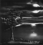 Julian Greigh painting of the night world outside my window